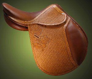 English Saddle Multipurpose Show Hand Tooled and Carved Saddle