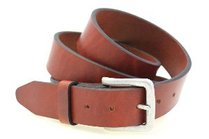 Genuine Leather Men Tan Belt