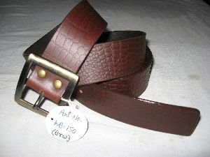 Men Fashion Brown Oil Pull Up Belt