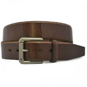 Mens Chocolate Leather Belt