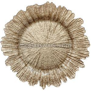 Champagne gold Reef Glass Charger Plate