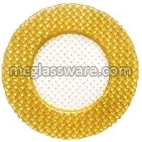 Braid Gold Glass Charger Plates
