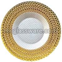 Harvest Gold Glass Charger Plates