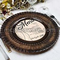 Brown Glass Charger Plates