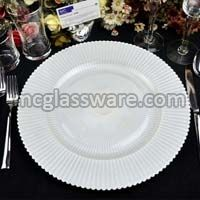 Sunray Pearl Glass Charger Plates