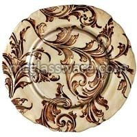 Vanessa Brown Glass Charger Plates