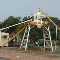 Cross Bin Hopper Concrete Batching Plant with Pan Mixer (GEPL CBH - 30)