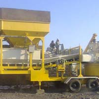 Inline Hopper Mobile Plant with Pan Mixer (GEPL IF RMC - 30)