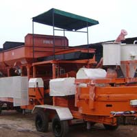 Inline Hopper Mobile Plant with Pan Mixer (GEPL IF RMC - 15)