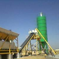 Static Inline Hopper Concrete Batching Plant with Twin Shaft Mixer (GEPL SIH - 45)