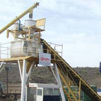 Static Inline Hopper Concrete Batching Plant with Twin Shaft Mixer (GEPL SIH - 60)
