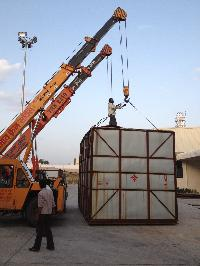 Unloading Crane Rental 08