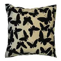 Butterfly Flocked Cushion Covers