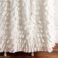 Cotton Voil Frill White Curtains