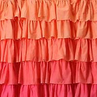 Dyed Frilled Curtains