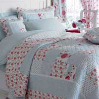 Rosa Machine Quilted Bedspread