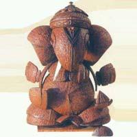 Coconut Shell Ganesh Statue