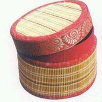 Golden Grass Round Box