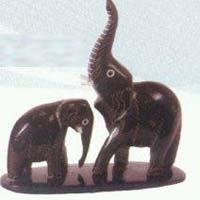 Horn Elephant Statue