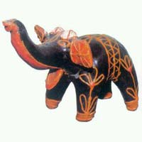 Lacquer Elephant Statue