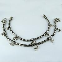 Sterling Silver Anklets Oxidized Plain