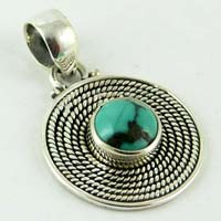 Love Turquoise Sterling Silver Pendant