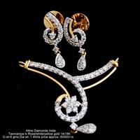 Diamond Mangalsutra Pendants(ATNER-ZP346)