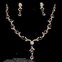 Diamond Necklace Sets(ATNKS-CD26)
