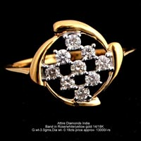 Ladies Light Weight Diamond Rings(ATLR-TP395)