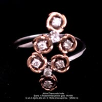 Ladies Rose Gold Diamond Rings(ATLR-N100)