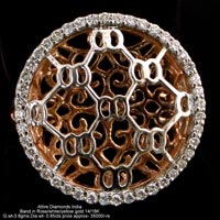Ladies Rose Gold Diamond Rings(ATLR-TL09)