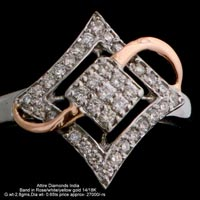 Ladies Rose Gold Diamond Rings(ATLR-TL10)