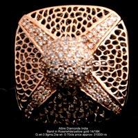 Ladies Rose Gold Diamond Rings(ATLR-TL25)