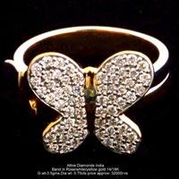 Ladies Rose Gold Diamond Rings(ATLR-TP507)