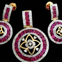 Light Weight Diamond Pendant Sets