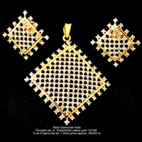 Light Weight Diamond Pendant Sets(ATPDS-J14)