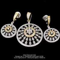 Light Weight Diamond Pendant Sets(ATPDS-KM05)