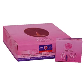 Satya Fresh Rose Dhoop Cone