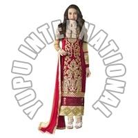 Red Karishma Fancy Party Suits