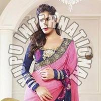 Pink Fashion Saree