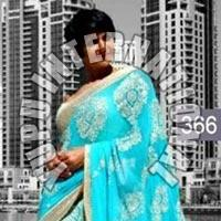 Mandira Life Style Blue Saree