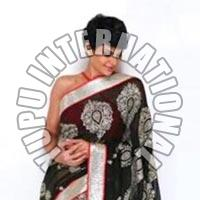 Mandira Life Style Black Saree