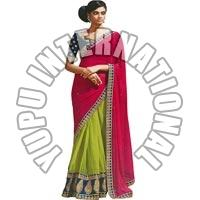 Nakashi Half Half Bollywood Replica Saree