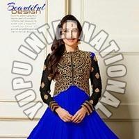 Blue Fancy Anarkali Dress