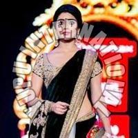 Shreya Saran Black Queen SAREE