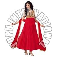 Red Fashion Anarkali Suits