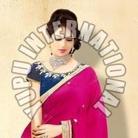 Pink Fashion Half Half Saree