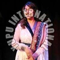 Madhuri White & BlacK Dress