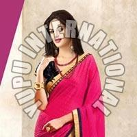 Exclusive Half Half Pink Saree