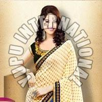 Exclusive Half Half Beige Saree